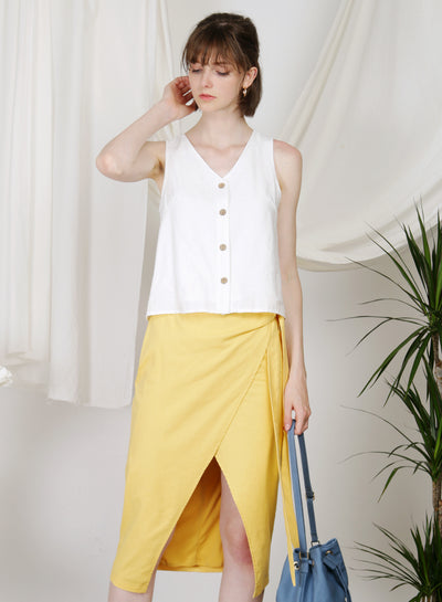 Hush Button Front Top (White)