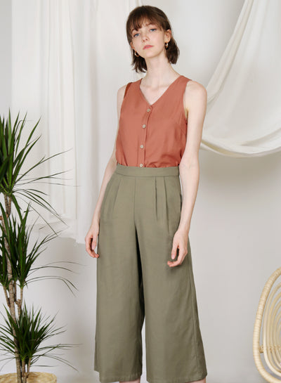 Hush Button Front Top (Amber)