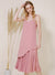 Aura Curved Hem Pleated Maxi Dress (Rose) at $ 48.00 only sold at And Well Dressed Online Fashion Store Singapore