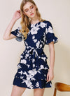 MIDNIGHT Ruffle Tiers Dress (Navy Floral) at $ 44.50 only sold at And Well Dressed Online Fashion Store Singapore