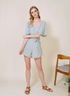 PARABLE Mid Sleeves Romper (Sage)