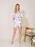 PARABLE Mid Sleeves Romper (White Terrazzo) at $ 42.50 only sold at And Well Dressed Online Fashion Store Singapore