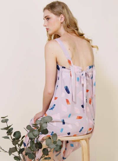 Tangled Terrazzo Print Dress (Lilac Grey) at $ 46.50 only sold at And Well Dressed Online Fashion Store Singapore