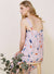 Tangled Terrazzo Print Dress (Lilac Grey)