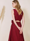Duet Wrap Around Midi Dress (Berry) at $ 46.50 only sold at And Well Dressed Online Fashion Store Singapore