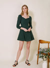 Moonchild Long Sleeved Flared Dress (Forest) at $ 43.50 only sold at And Well Dressed Online Fashion Store Singapore