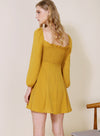 Moonchild Long Sleeved Flared Dress (Marigold) at $ 43.50 only sold at And Well Dressed Online Fashion Store Singapore