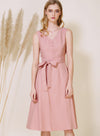 Duet Wrap Around Midi Dress (Blush) at $ 46.50 only sold at And Well Dressed Online Fashion Store Singapore