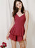 Serene Button Front Eyelet Romper (Dark Rose) at $ 44.50 only sold at And Well Dressed Online Fashion Store Singapore