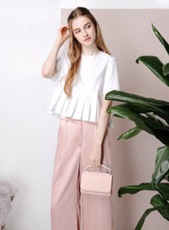 PEYTON Silver Handle Clutch Bag (Blush) at $ 28.50 only sold at And Well Dressed Online Fashion Store Singapore