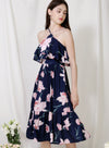 Wildflower Double Tiers Midi Dress (Floral) at $ 48.00 only sold at And Well Dressed Online Fashion Store Singapore