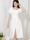 Explorer Button Down Midi Dress (White) at $ 46.00 only sold at And Well Dressed Online Fashion Store Singapore