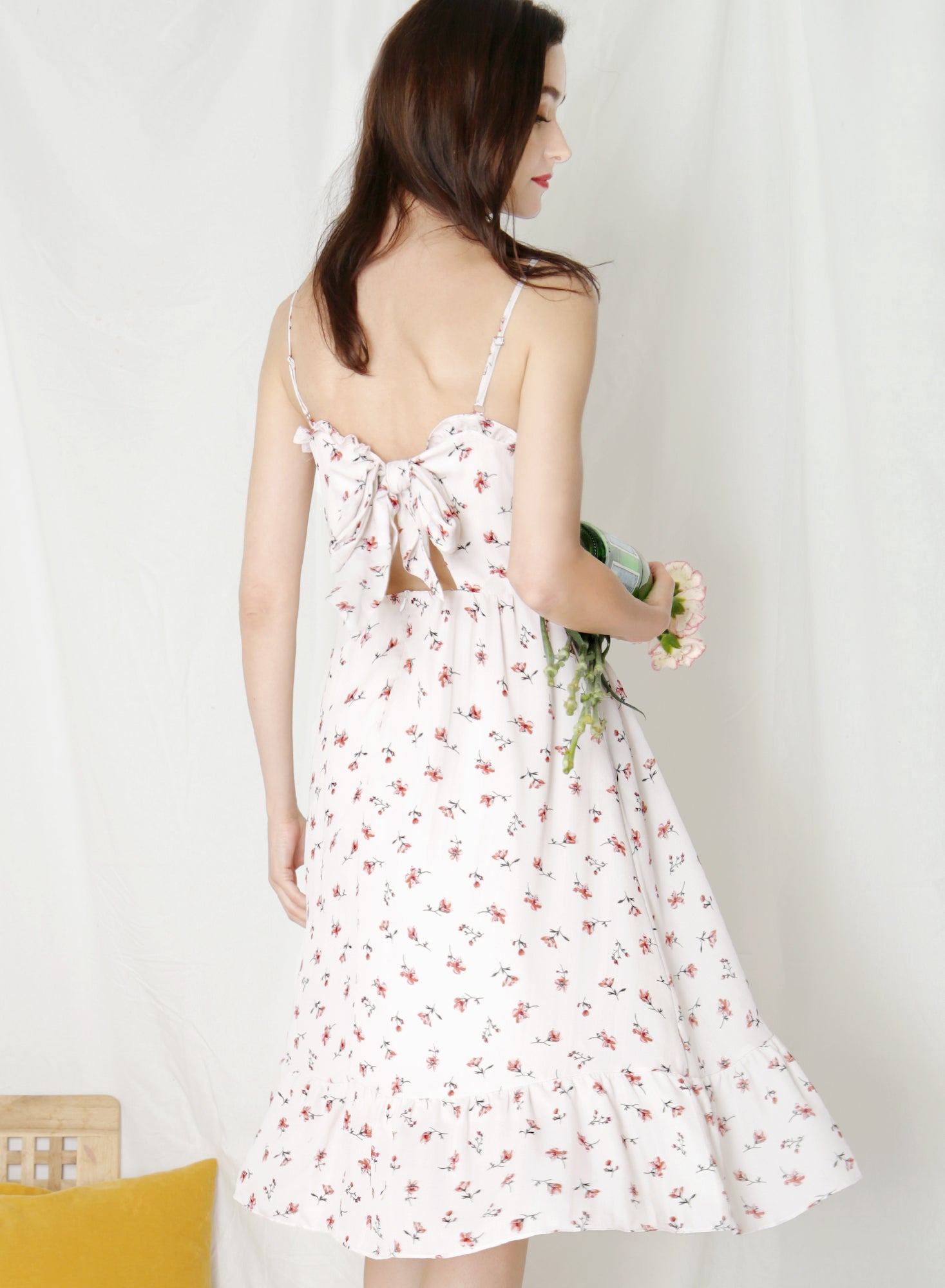 Harmony Ribbon Tie Back Dress (Floral)