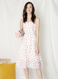 Harmony Ribbon Tie Back Dress (Floral) at $ 43.50 only sold at And Well Dressed Online Fashion Store Singapore