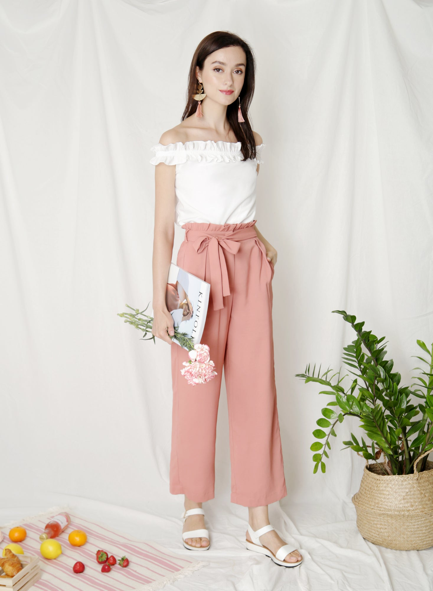 Fixate Paperbag Pants (Tea Rose)