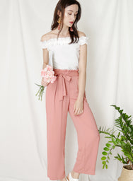 Fixate Paperbag Pants (Tea Rose) at $ 31.60 only sold at And Well Dressed Online Fashion Store Singapore