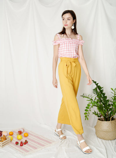 Fixate Paperbag Pants (Marigold) at $ 29.50 only sold at And Well Dressed Online Fashion Store Singapore