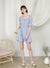 Cabin Puff Sleeves Dress (Periwinkle) at $ 45.00 only sold at And Well Dressed Online Fashion Store Singapore