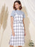 Boundless Checkered Slip Dress (White) at $ 31.50 only sold at And Well Dressed Online Fashion Store Singapore