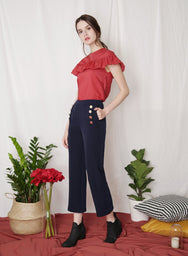 REBEL Sailor Pants (Navy) at $ 27.50 only sold at And Well Dressed Online Fashion Store Singapore