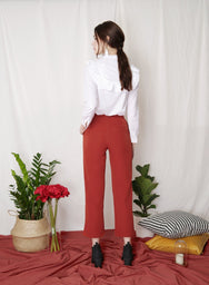 REBEL Sailor Pants (Rust) at $ 36.50 only sold at And Well Dressed Online Fashion Store Singapore