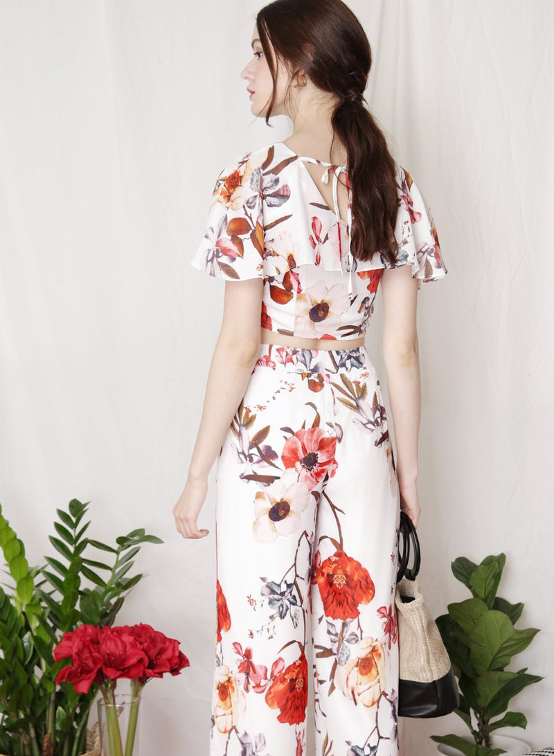 BLOOM Floral Cape Top (White) at $ 25.50 only sold at And Well Dressed Online Fashion Store Singapore