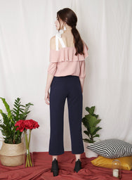 PARADE Contrast Trim Top (Blush) at $ 25.50 only sold at And Well Dressed Online Fashion Store Singapore
