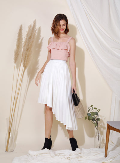 Myth Ruffle Tier Top (Blush) at $ 26.00 only sold at And Well Dressed Online Fashion Store Singapore