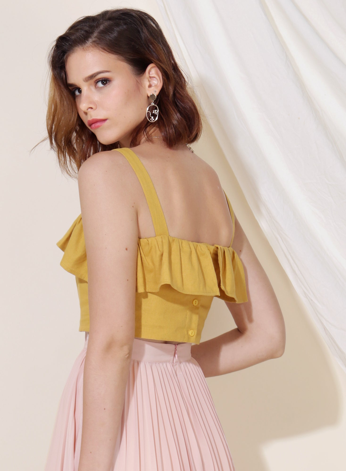 Myth Ruffle Tier Top (Honey) at $ 35.00 only sold at And Well Dressed Online Fashion Store Singapore