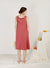 Tropics Tie Back Swing Dress (Guava)