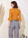 Yonder Ribbed Knit Wrap Top (Ochre) at $ 33.50 only sold at And Well Dressed Online Fashion Store Singapore