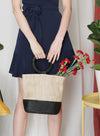 FEY Round Handle Straw Tote at $ 32.50 only sold at And Well Dressed Online Fashion Store Singapore