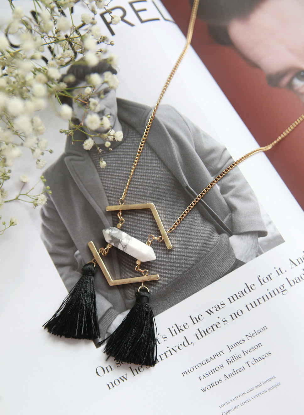 Aine Layered Tassels Necklace at $ 19.50 only sold at And Well Dressed Online Fashion Store Singapore