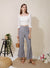 Belief Striped Linen Pants (Navy) at $ 28.50 only sold at And Well Dressed Online Fashion Store Singapore