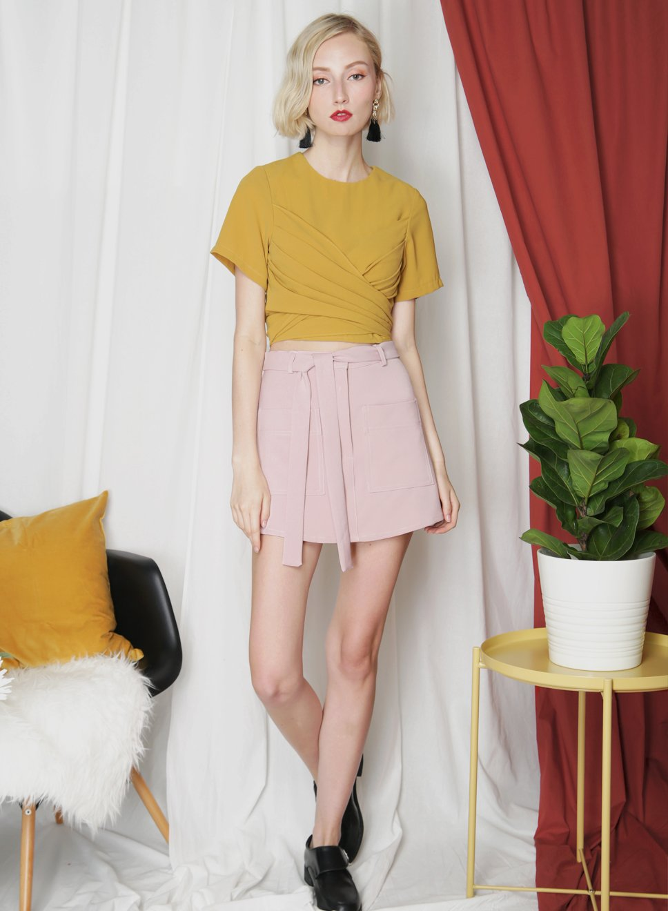 ELEVATE Double Pocket Skorts (Mauve) - And Well Dressed