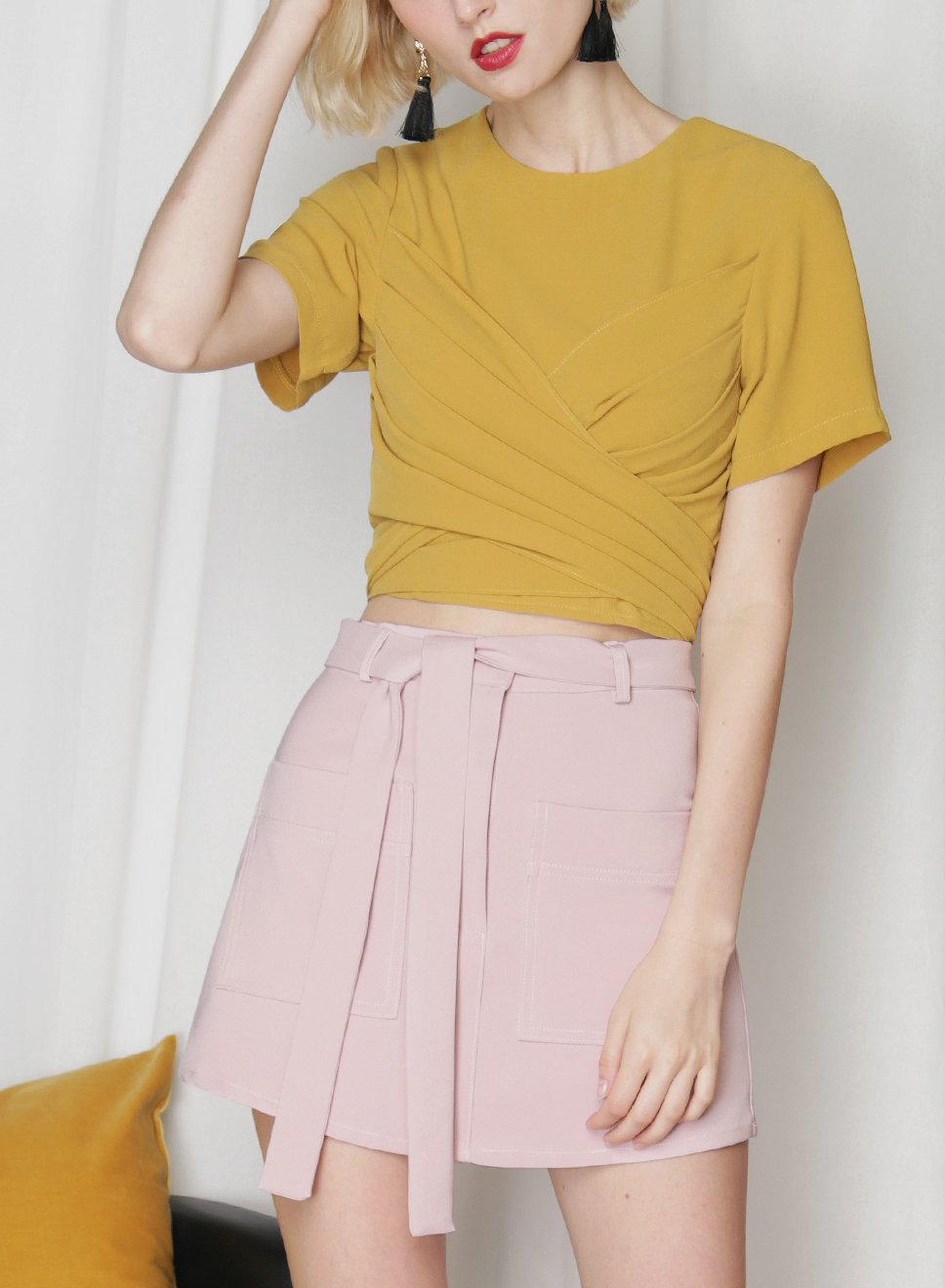 ELEVATE Double Pocket Skorts (Mauve) at $ 26.50 only sold at And Well Dressed Online Fashion Store Singapore