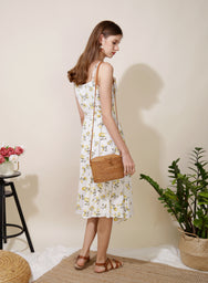 Trifle Asymmetric Ruffle Hem Dress (Floral) - And Well Dressed