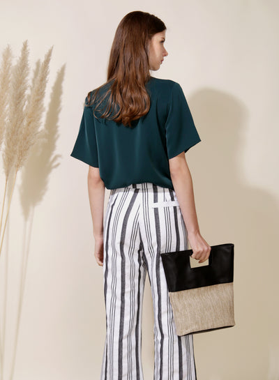 Savour Wrap Front Top (Forest) - And Well Dressed