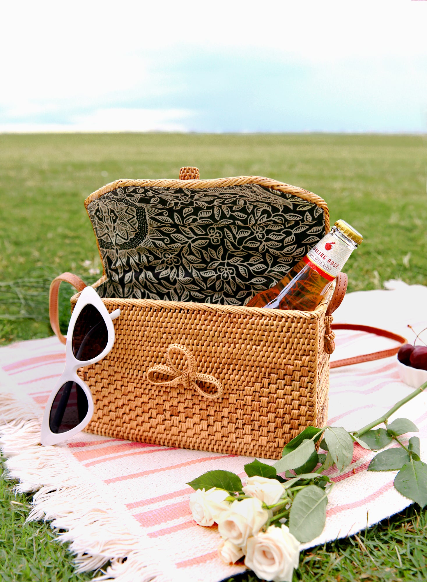 Wesya Envelope Box Woven Bag at $ 72.00 only sold at And Well Dressed Online Fashion Store Singapore