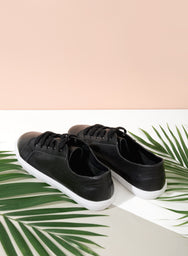 NITA LEATHER SNEAKERS (BLACK) at $ 24.00 only sold at And Well Dressed Online Fashion Store Singapore