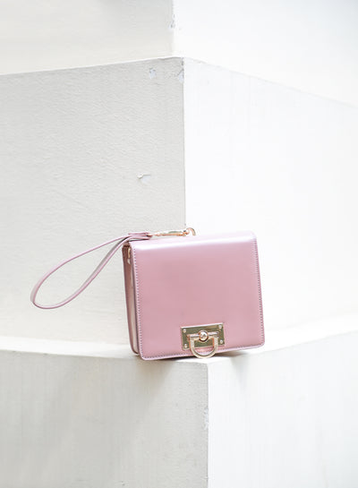 AUBREY Box Clutch Bag (Mauve) at $ 32.50 only sold at And Well Dressed Online Fashion Store Singapore