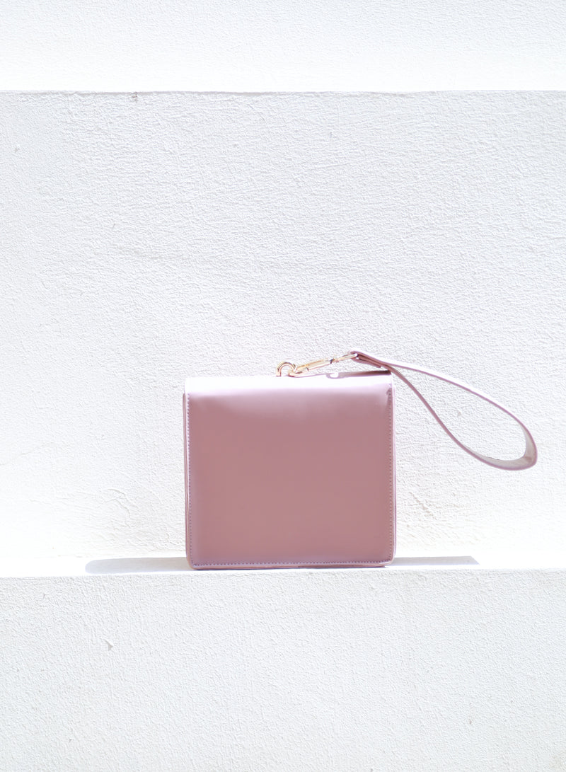 AUBREY Box Clutch Bag (Mauve) - And Well Dressed