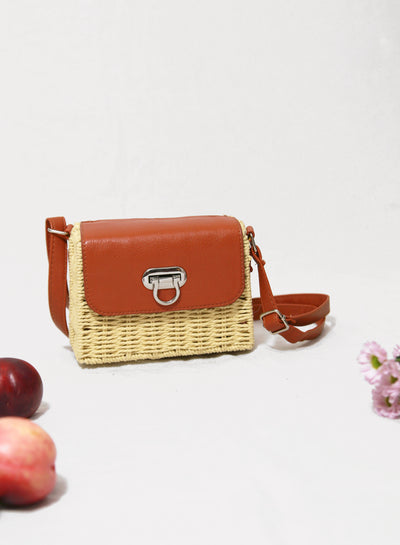Bridie Wicker Box Bag at $ 29.90 only sold at And Well Dressed Online Fashion Store Singapore