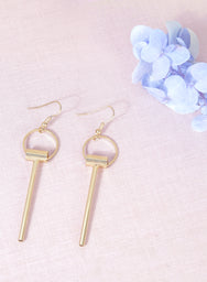LUNE Geometric Earrings (Gold) at $19.50 only sold at And Well Dressed Online Fashion Store Singapore
