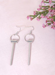 LUNE Geometric Earrings (Silver) at $ 19.50 only sold at And Well Dressed Online Fashion Store Singapore