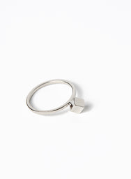 CLIO SINGLE CUBE RING (SILVER) at $5.00 only sold at And Well Dressed Online Fashion Store Singapore