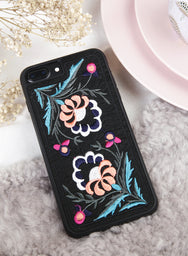 WILD FLORALS Embroidery iPhone Case (Peach) at $19.90 only sold at And Well Dressed Online Fashion Store Singapore