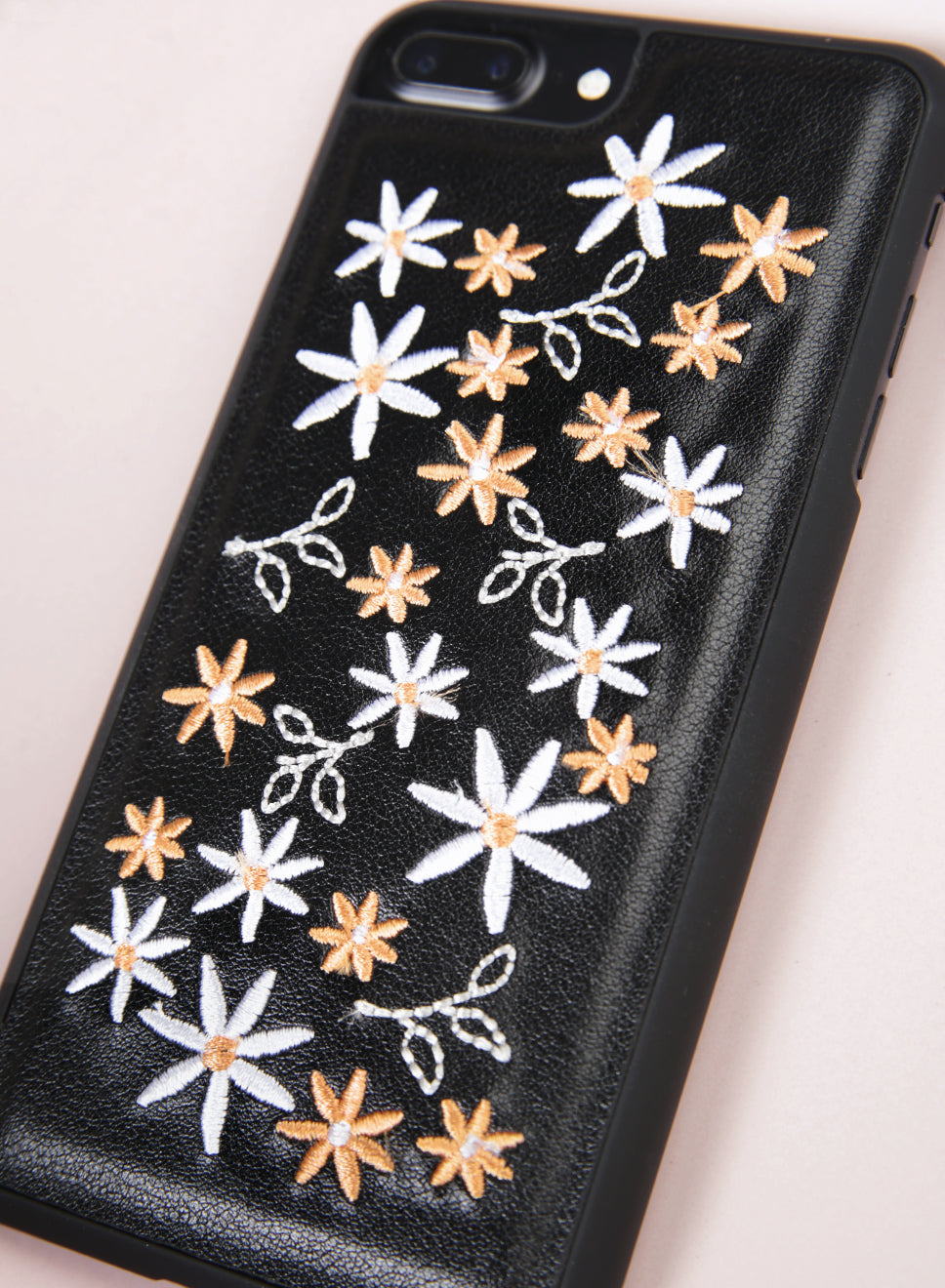 DAISIES Embroidery iPhone Case (Black) at $ 16.90 only sold at And Well Dressed Online Fashion Store Singapore