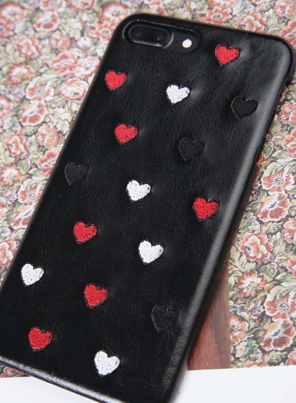 ALL HEARTS Embroidery iPhone Case (Black) at $ 15.90 only sold at And Well Dressed Online Fashion Store Singapore