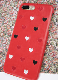ALL HEARTS Embroidery iPhone Case (Red) at $ 15.90 only sold at And Well Dressed Online Fashion Store Singapore